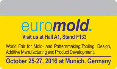 25-27/10/2016: MIDA will participate in EuroMold 2016 in Munich, Germany - The world Fair for moldmaking and Tooling, Design and Application Development.